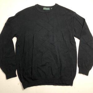 Vintage Tundra Knit Black Sweater Mens XL
